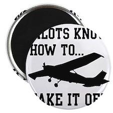 PilotsTakeOff Black Magnet