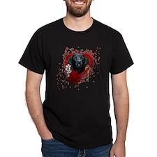 Valentine_Red_Rose_Labrador_Gage T-Shirt