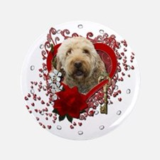"Valentine_Red_Rose_GoldenDoodle 3.5"" Button"