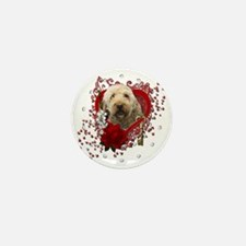 Valentine_Red_Rose_GoldenDoodle Mini Button