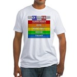 French Terror Alerts Fitted T-Shirt