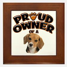 Proud Owner of a Beagle Framed Tile