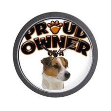 Proud Owner of a Jack Russell Wall Clock