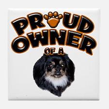 Proud Owner of a Pekingese 2 Tile Coaster