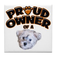 Proud Owner of a Schnoodle Tile Coaster