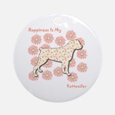 Rottweiler Happiness Ornament (Round)