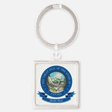 Nevada Seal Square Keychain