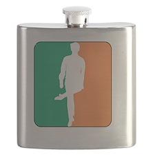 ID TriColor Boy DARK 10x10_apparel Flask