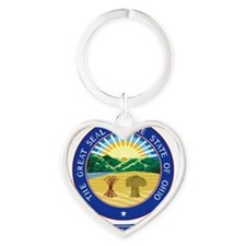 Ohio Seal Heart Keychain
