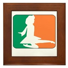 ID TriColor Girl DARK 10x10_apparel Framed Tile