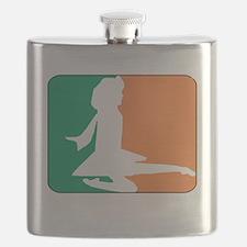 ID TriColor Girl DARK 10x10_apparel Flask