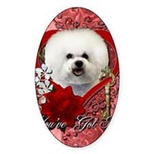 Valentine_Red_Rose_Bichon_Frise Decal