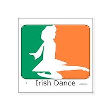 """ID TriColor Girl 10x10_appa Square Sticker 3"""" x 3"""""""