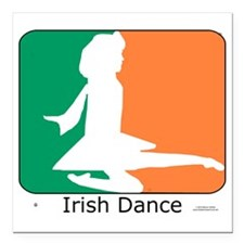 """ID TriColor Girl 10x10_a Square Car Magnet 3"""" x 3"""""""