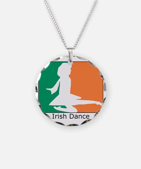 ID TriColor Girl 10x10_appar Necklace Circle Charm