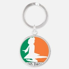 ID TriColor Girl 10x10_apparel Round Keychain