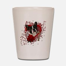 Valentine_Red_Rose_Boston_Terrier Shot Glass