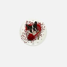 Valentine_Red_Rose_Boston_Terrier Mini Button