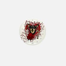 Valentine_Red_Rose_Australian_Kelpie Mini Button