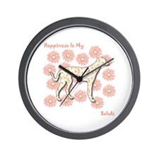 Saluki Happiness Wall Clock