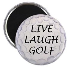 Live Laugh Golf Magnet