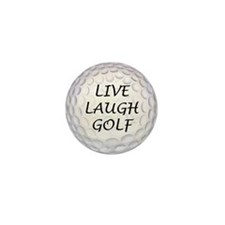 Live Laugh Golf Mini Button