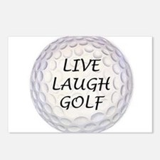 Live Laugh Golf Postcards (Package of 8)