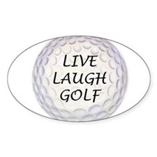 Live Laugh Golf Oval Decal