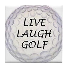 Live Laugh Golf Tile Coaster