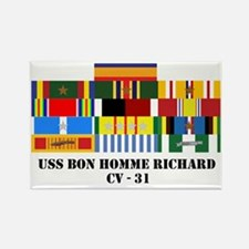uss-bon-homme-cv-31-group-text Rectangle Magnet