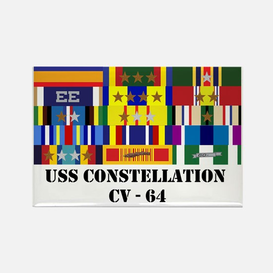 uss-constellation-cv-64-group-tex Rectangle Magnet