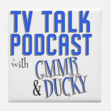 podcast stadium blanket Tile Coaster