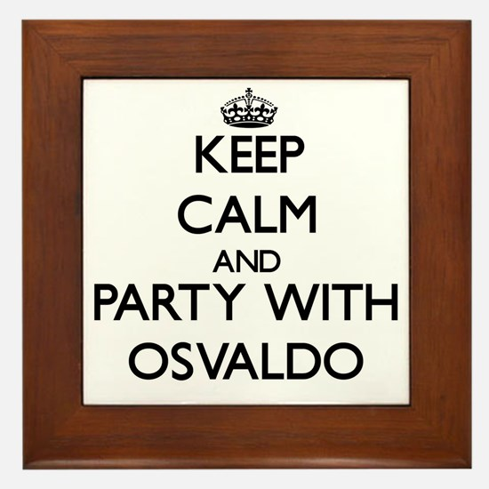 Keep Calm and Party with Osvaldo Framed Tile