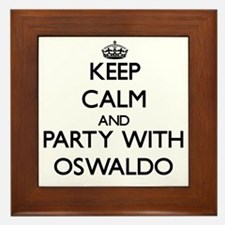 Keep Calm and Party with Oswaldo Framed Tile