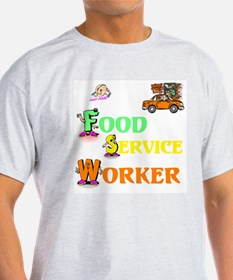 Food Service Worker Ash Grey T-Shirt