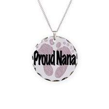 Proud Nana (Girl) Necklace Circle Charm