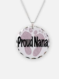Proud Nana (Girl) Necklace Circle Charm