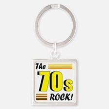 the 70s rock 2 Square Keychain