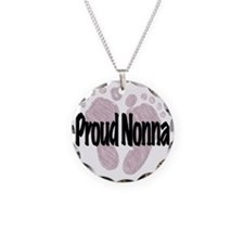 Proud Nonna (Girl) Necklace Circle Charm