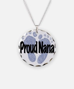 Proud Nana (Boy) Necklace Circle Charm