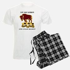 1-1O CAV RGT WITH TEXT Pajamas