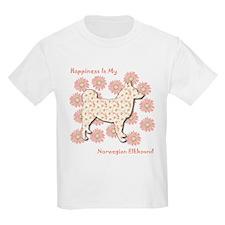 Elkhound Happiness Kids T-Shirt