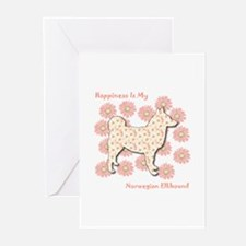 Elkhound Happiness Greeting Cards (Pk of 10)