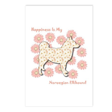 Elkhound Happiness Postcards (Package of 8)