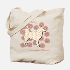 Elkhound Happiness Tote Bag