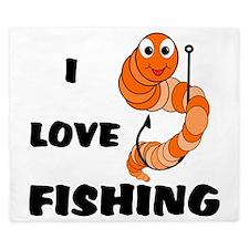 I Love Fishing King Duvet
