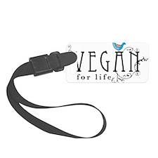 vegan-border2 Luggage Tag