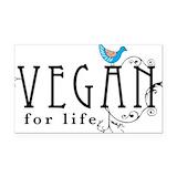 "Vegan for life 3"" x 5"""