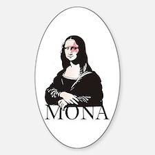Mona Kiss Fan Oval Decal