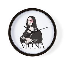Mona Kiss Fan Wall Clock